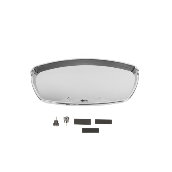 Wave mirror 7x17 chrome with round blac by cipa part no for Round mirror canada