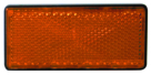 Rectangular Amber Reflector