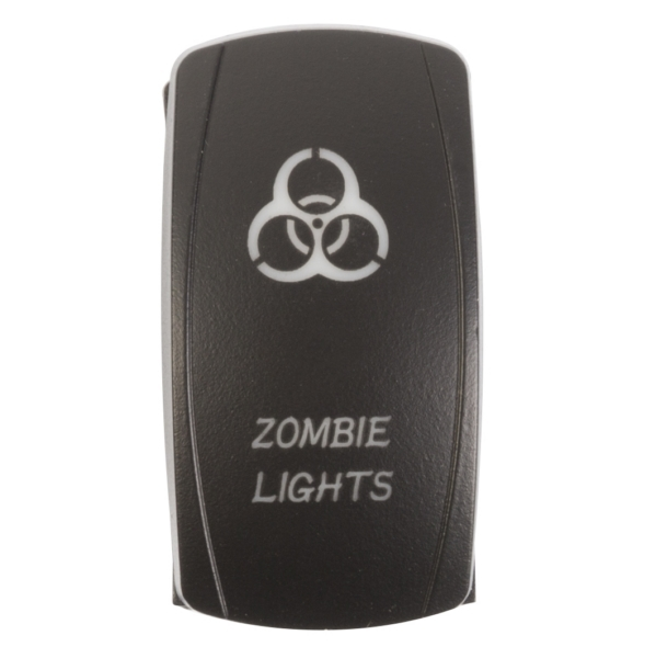 ROCKER SWITCH ZOMBIE BL by:  QuakeLed Part No: QRS-ZL-B - Canada - Canadian Dollars