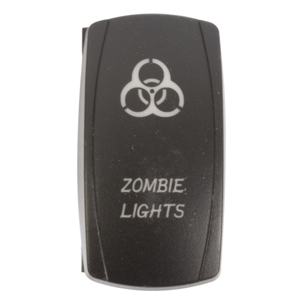 ROCKER SWITCH ZOMBIE RD by:  QuakeLed Part No: QRS-ZL-R - Canada - Canadian Dollars