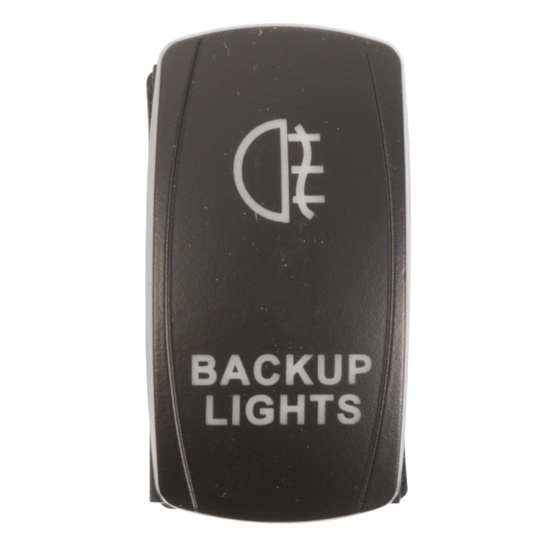 ROCKER SWITCH BACKUP BL by:  QuakeLed Part No: QRS-BL-B - Canada - Canadian Dollars