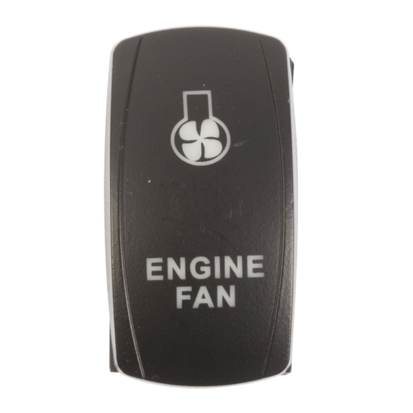ROCKER SWITCH ENGINE FAN AMB by:  QuakeLed Part No: QRS-EF-A - Canada - Canadian Dollars