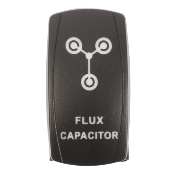 ROCKER SWITCH FLUX CAPACITOR RD by:  QuakeLed Part No: QRS-FC-R - Canada - Canadian Dollars