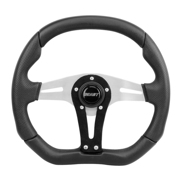 STEERING WHEEL UTV RACE BK/ALU by:  Grant Part No: 490 - Canada - Canadian Dollars