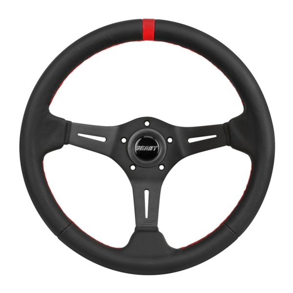 STEERING WHEEL UTV RACE BK/RD by:  Grant Part No: 692 - Canada - Canadian Dollars