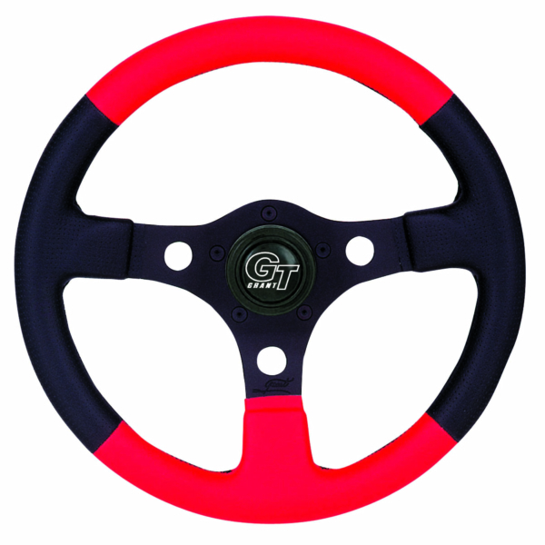 STEERING WHEEL UTV STD BK/RD by:  Grant Part No: 1146-14 - Canada - Canadian Dollars