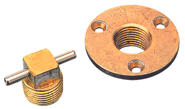 BRONZE GARBOARD PLUG W/STAINLESS T-HANDL by:  SeaDog Part No: 520042-1 - Canada - Canadian Dollars