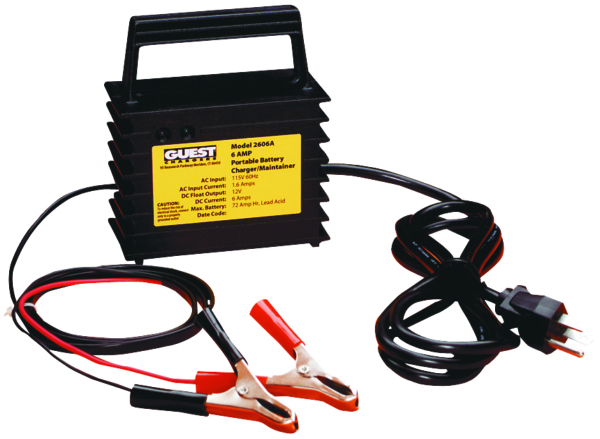 6 AMP BATTERY CHARGER 1 OUTPUT PORTABLE by:  Guest Part No: 2606A - Canada - Canadian Dollars