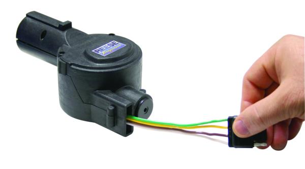 7-Way Flat Pin to 4-Flat Adapter w/42