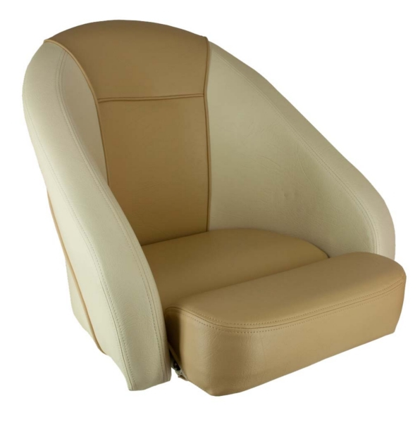 Sport Bucket Chair, Tan & White by:  Springfield Part No: 1043513 - Canada - Canadian Dollars