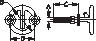 TRANSOM MOUNT SKI TOW 3/8  X 3