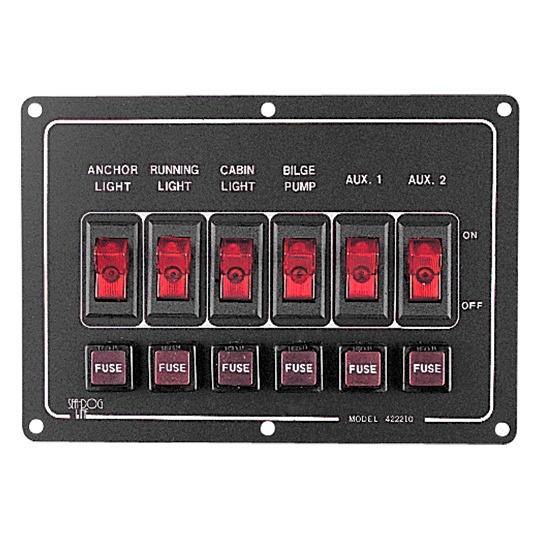 ALUMINUM HORIZONTAL SWITCH PANEL by:  SeaDog Part No: 422210-1 - Canada - Canadian Dollars