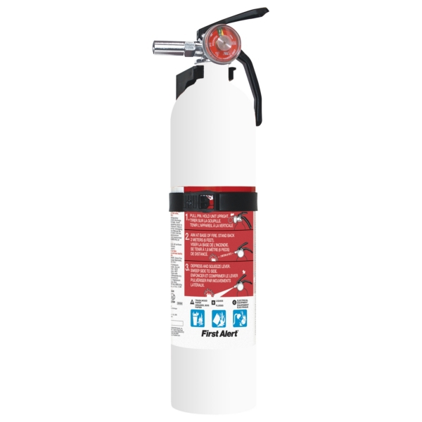 FIRE EXTINGUISHER 1A10BC,WHITE W/GAUGE by:  FirstAlert Part No: FE1A10GOWA - Canada - Canadian Dollars
