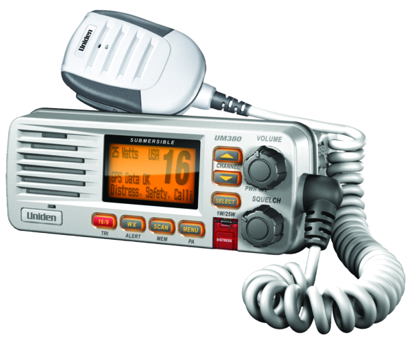 VHF Radio Solara D White by:  Uniden Part No: UM380 - Canada - Canadian Dollars
