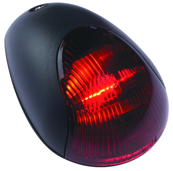 BLACK VERT.MOUNT SIDELIGHT RED 2MILE by:  Attwood Part No: 3830R7 - Canada - Canadian Dollars