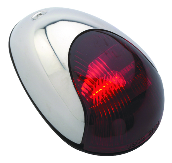 STAINL VERT.MOUNT SIDELIGHT, RED, 2MILE by:  Attwood Part No: 3838R7 - Canada - Canadian Dollars