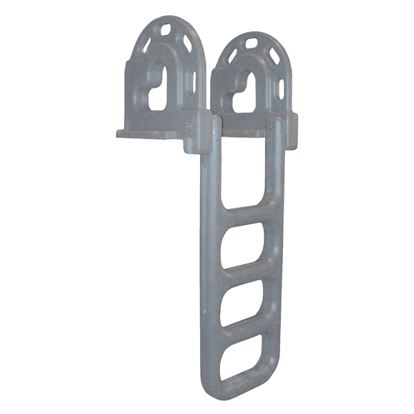 Dock ladder 4 steps flip-up LLDPE grey by:  DockEdge Part No: 2064-F - Canada - Canadian Dollars