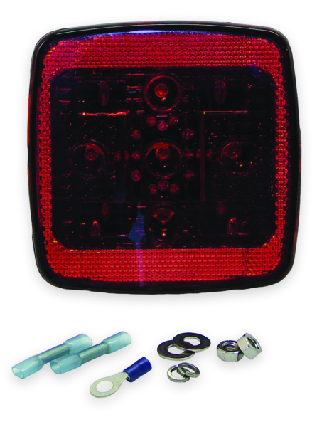 Square LED Taillight - Left Side by:  Boatersports Part No: 59334 - Canada - Canadian Dollars