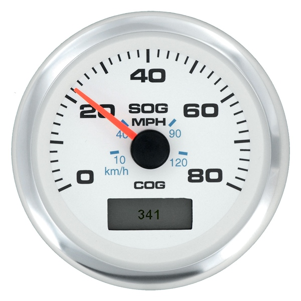 Speedo GPS, White Premier Pro 80 mph by:  Sierra Part No: 781-625-080P - Canada - Canadian Dollars