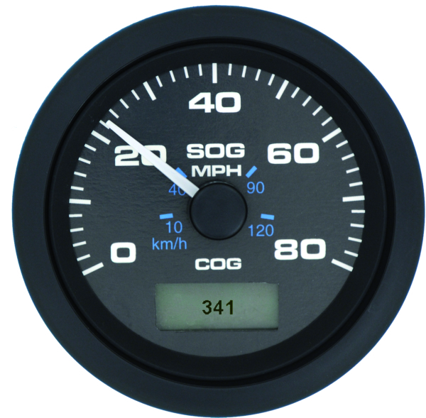 Speedo GPS, Black Premier Pro 80 mph by:  SeastarSolution Part No: 781-627-080P - Canada - Canadian Dollars