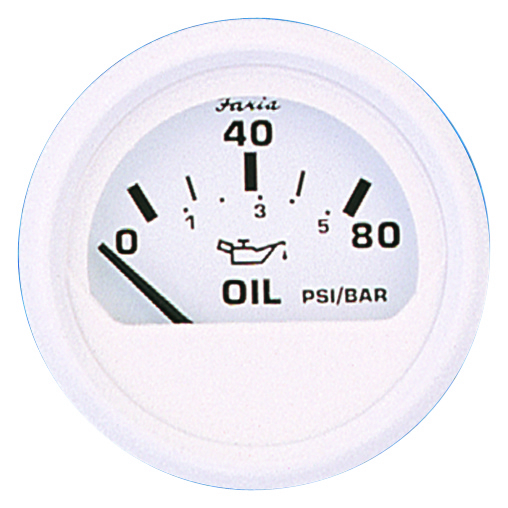 OIL PRESSURE 80PSI DRESS WHITE by:  Faria Part No: 13102 - Canada - Canadian Dollars