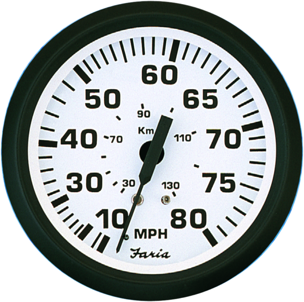 SPEEDOMETER 80MPH EURO WHITE by:  Faria Part No: 32910 - Canada - Canadian Dollars