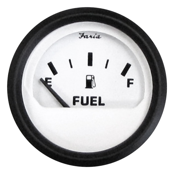 FUEL GAUGE EURO WHITE by:  Faria Part No: 12901 - Canada - Canadian Dollars