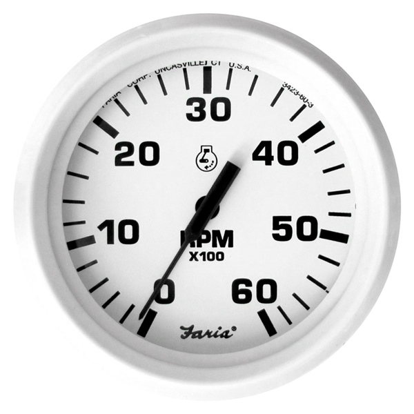 TACHOMETER DRESS WHITE 0-6000 by:  Faria Part No: 33103 - Canada - Canadian Dollars