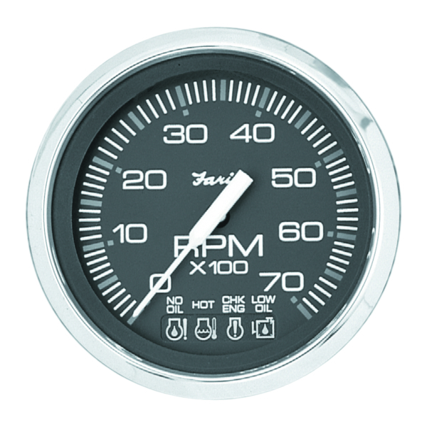 CHESAP. S/S BK TACHOMETER 6000 RPM I/O by:  Faria Part No: 33710 - Canada - Canadian Dollars