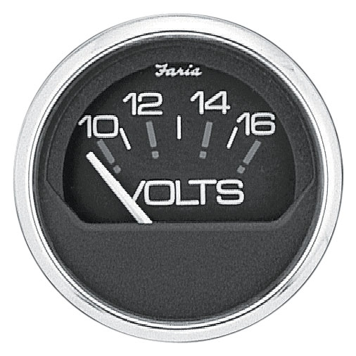 CHESAP. S/S BK VOLTMETER 10-16V by:  Faria Part No: 13705 - Canada - Canadian Dollars