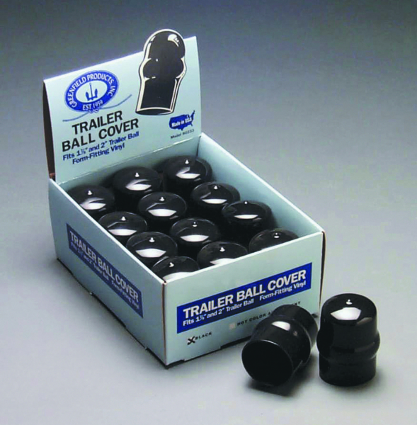 12 BLACK TRAILER BALL COVERS by:  Greenfield Part No: 80233-B - Canada - Canadian Dollars