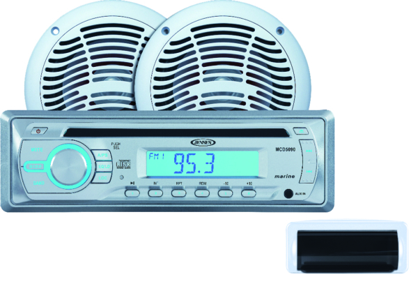 AM/FM/CD MARINE RADIO W SPEAKER 6,5