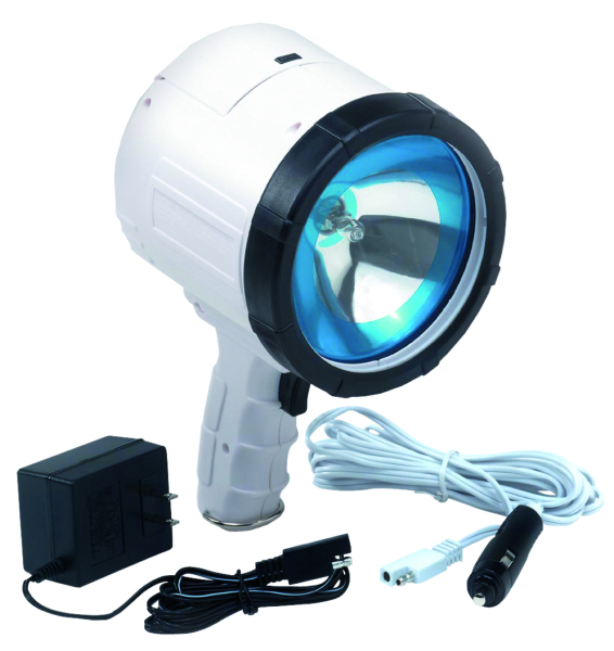 RECHARGEABLE SPOTLIGHT 2M CP HALO WHITE by:  Optronics Part No: QR2001 - Canada - Canadian Dollars
