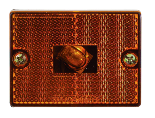 SQUARE AMBER MARKER LIGHT STUD MOUNT by:  Optronics Part No: MC36AS - Canada - Canadian Dollars