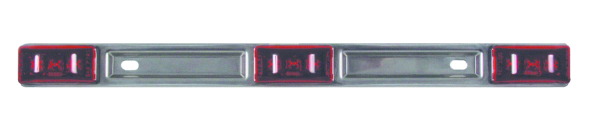 LED SEALED RED 3-PC IDENT LIGHT BAR by:  Optronics Part No: MCL97RK - Canada - Canadian Dollars