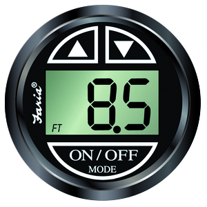 DEPT SOUNDER EURO BLACK T/MOUNT by:  Faria Part No: 12850 - Canada - Canadian Dollars
