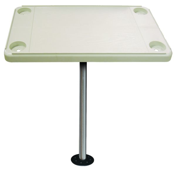 RECTANGULAR TABLE KIT IVORY W/FLUSH MOUN by:  Boatersports Part No: DSH-KF - Canada - Canadian Dollars