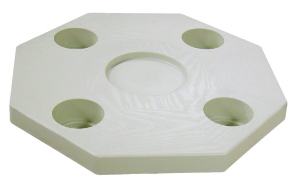 OCTAGONAL IVORY TABLE TOP by:  Boatersports Part No: DSI - Canada - Canadian Dollars