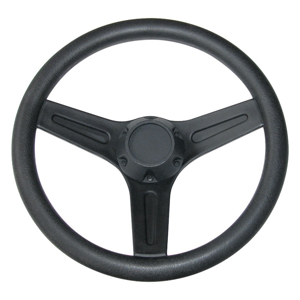 BOAT STEERING WHEEL BLACK PLASTIC by:  Boatersports Part No: EDG - Canada - Canadian Dollars