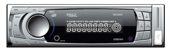 MP3 Comp  Receiver, AM/FM, USB/SD,  Aux- by:  BossAudio Part No: MR1308UAB - Canada - Canadian Dollars