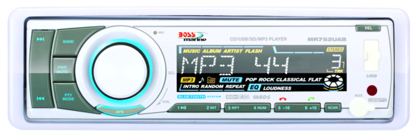IN-DASH SINGLE-DIN MARINE MP3/CD/AM/FM by:  BossAudio Part No: MR752UAB - Canada - Canadian Dollars