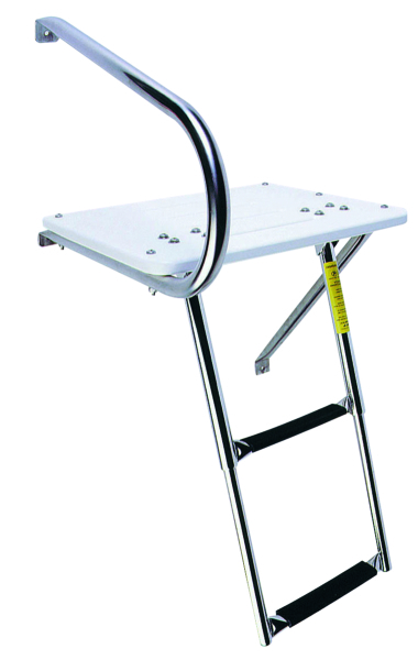O/B SWIM PLATFORM W/TELESCOPING LADDER by:  Garelick Part No: 19536:01 - Canada - Canadian Dollars
