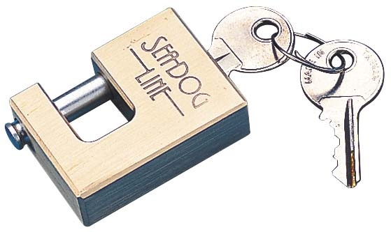 BRASS COUPLER LOCK W/STAINLESS PIN by:  SeaDog Part No: 751020-1 - Canada - Canadian Dollars