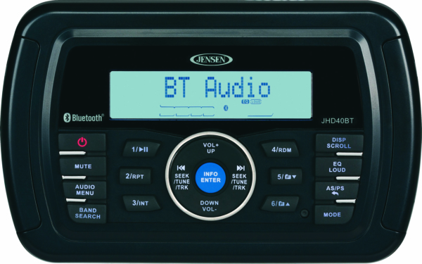 Heavy Duty Stereo W/ Bluetooth by:  Jensen Part No: JHD40BTR - Canada - Canadian Dollars