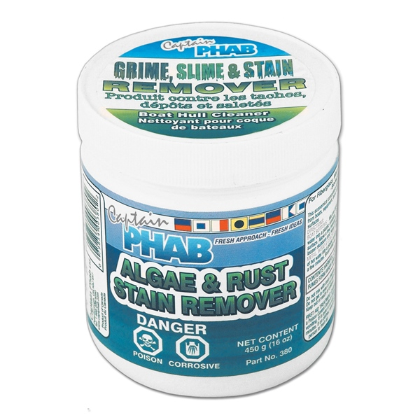 ALGAE & RUST STAIN REMOVER 450GM by:  CaptainPhab Part No: 380 - Canada - Canadian Dollars