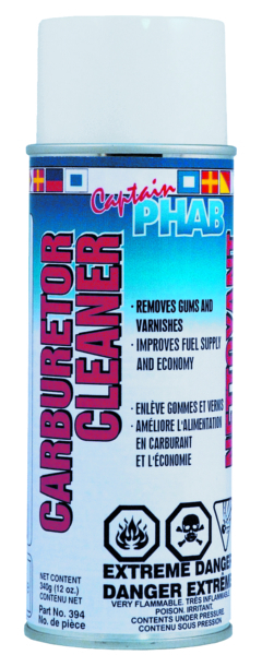 CARBURATOR CLEANER 340G AEROSOL by:  CaptainPhab Part No: 301 - Canada - Canadian Dollars