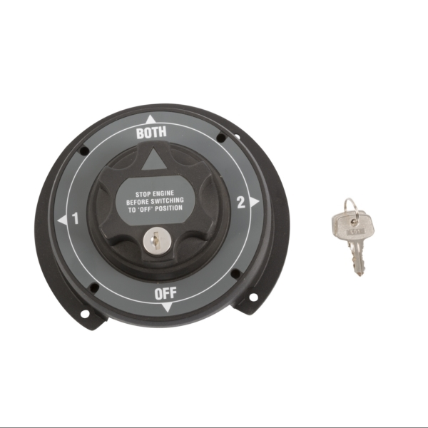 4 POSITION LARGE BATTERY SWITCH W/KEY by:  Boatersports Part No: 51044 - Canada - Canadian Dollars