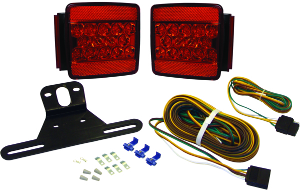 Trailer Light Kit LED Square Submersible by:  Boatersports Part No: 59333 - Canada - Canadian Dollars