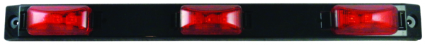 Trailer Indicator LED 3-Light Bar Black by:  Boatersports Part No: 59352 - Canada - Canadian Dollars