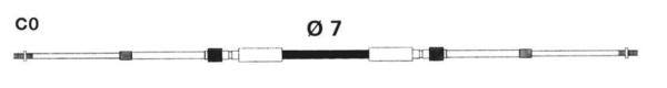 MACH ZERO HIGH EFFIC. 33C STYLE CABLE by:  Uflex Part No: MACHZEROX20 - Canada - Canadian Dollars